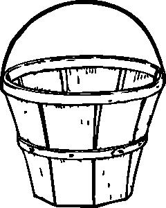 240x300 Quart Basket Clip Art