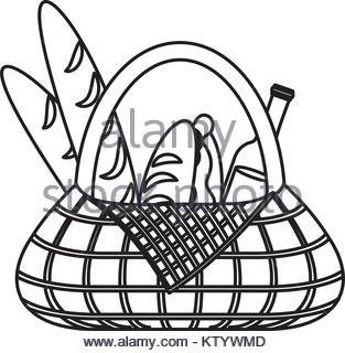 313x320 Bread Loaf Box Vector Illustration Graphic Design Icon Stock