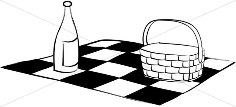 776x354 Basket Clipart Picnic Blanket