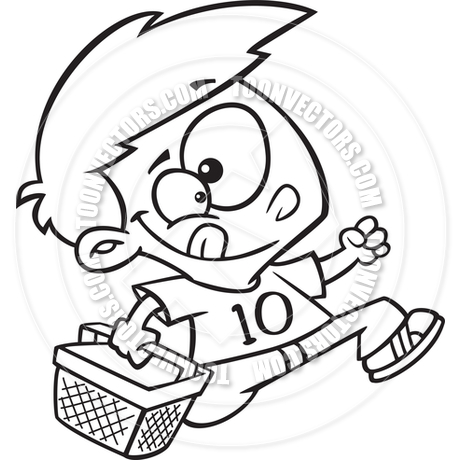 460x460 Cartoon Boy Carrying A Picnic Basket By Ron Leishman Toon