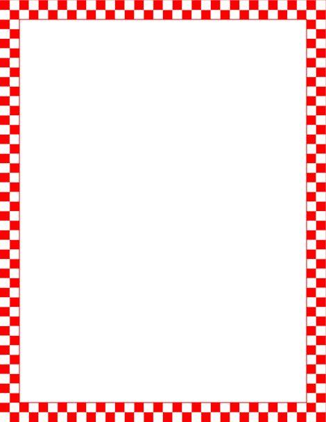 470x608 Picnic Page Borders Clip Art