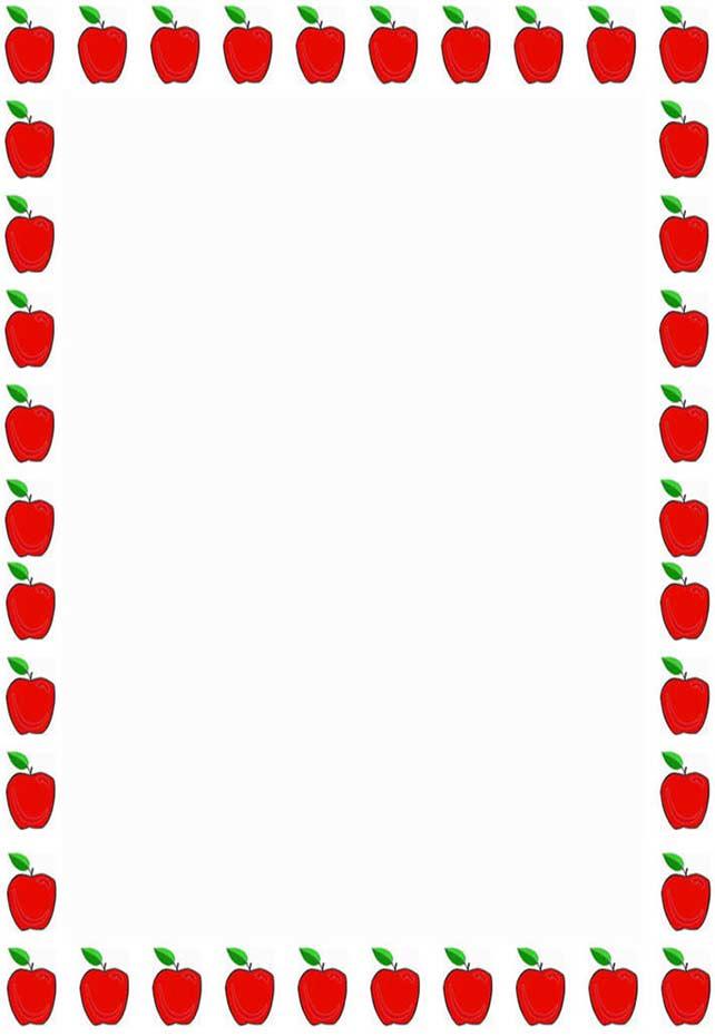 642x930 Apple Clipart Boarder