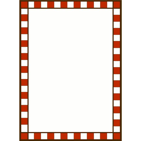 600x600 Red Check Borders Clipart