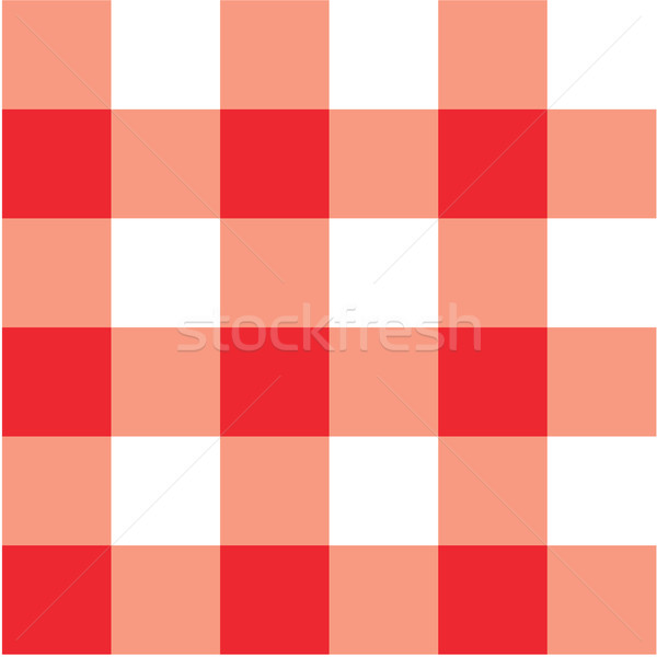 600x600 Red Picnic Table Cloth Plaid Vector Illustration Experimental