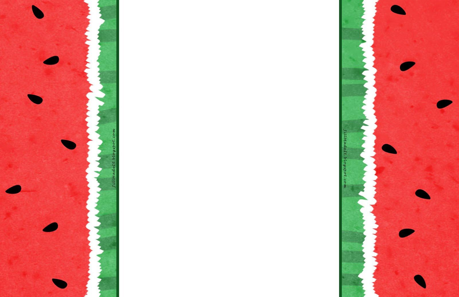 1600x1035 Watermelon Clipart Border