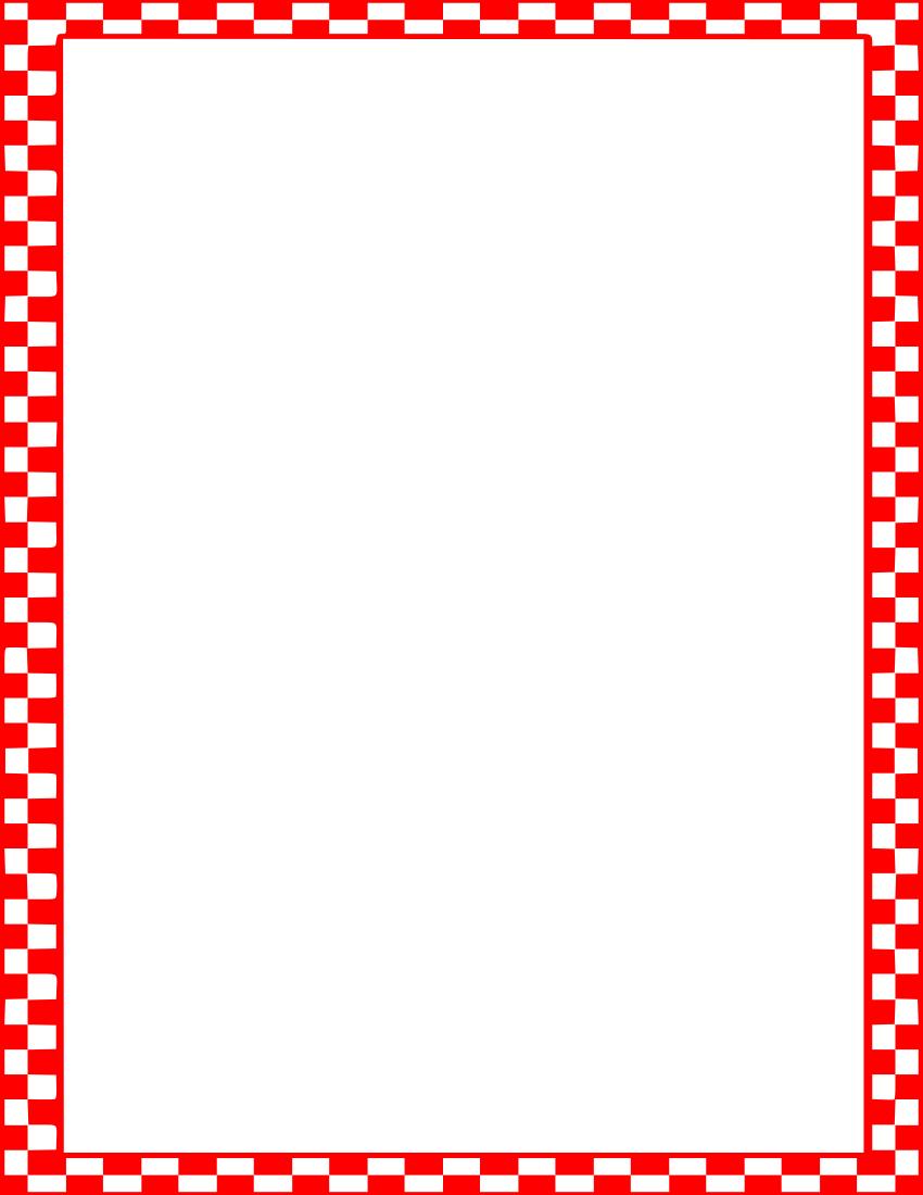 850x1100 Border Clipart Picnic
