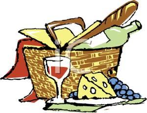 300x231 Clip Art Picnic Basket Food Clipart