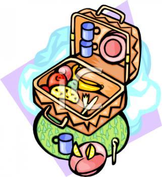 321x350 Food Hamper Clipart