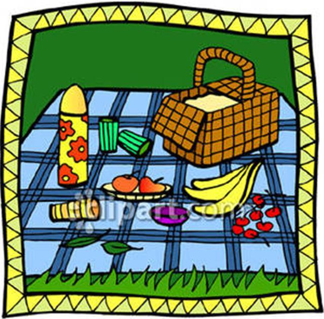 640x629 Picnic In The Park Clipart