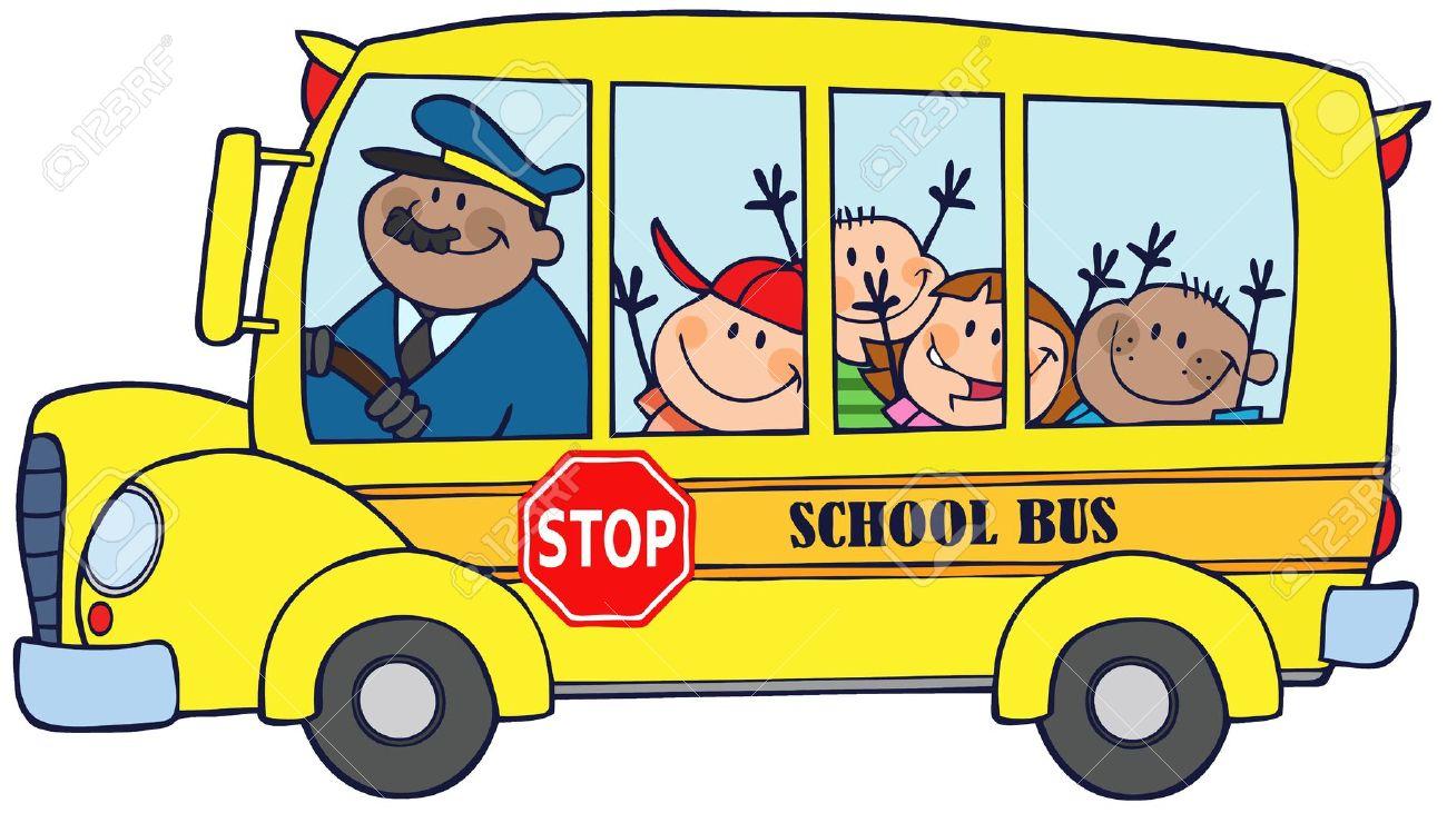 1300x731 School Picnic Bus Clipart