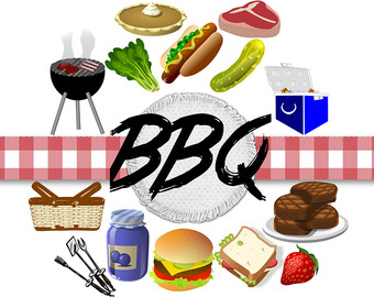 340x270 Grill Clipart Etsy
