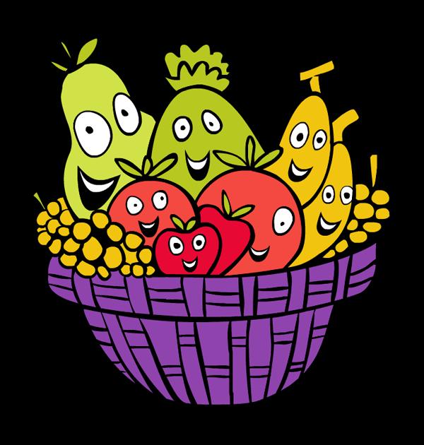 600x630 Picnic Basket Clipart Fruit Basket