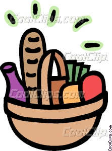 222x300 Picnic Basket Filled With Food Vector Clip Art