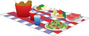 300x124 Picnic Food Clipart Free