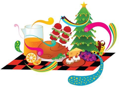 480x352 Picnic Clipart Christmas