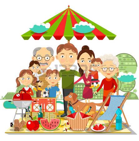 446x450 Picnic Clipart Family Activity