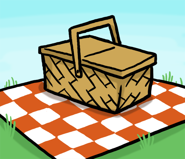 600x516 Stormy Animated Picnic Clipart