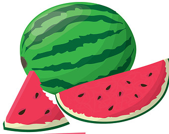 340x270 Watermelon Clipart Etsy