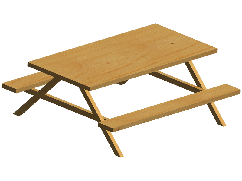 800x600 Picnic Table Clipart