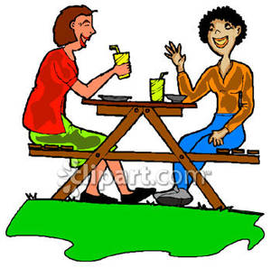 300x297 Picnic Table Clipart Picnic Lunch