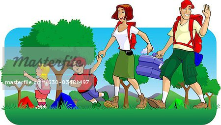 450x254 Picnic Clipart Family Together