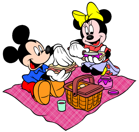 458x435 Picnic Clipart Mickey Mouse