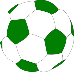 299x291 Green Soccer Ball Clip Art