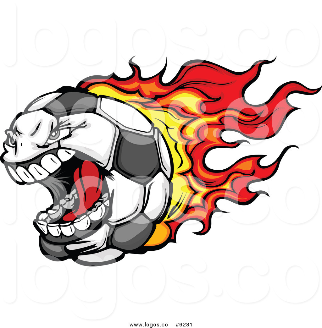 1024x1044 Royalty Free Clip Art Vector Logo Of A Screaming Flaming Soccer