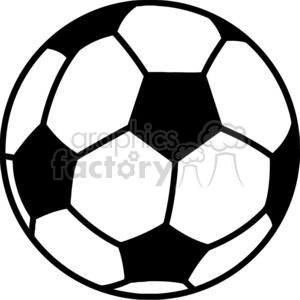 300x300 Royalty Free Soccer Ball 379681 Vector Clip Art Image