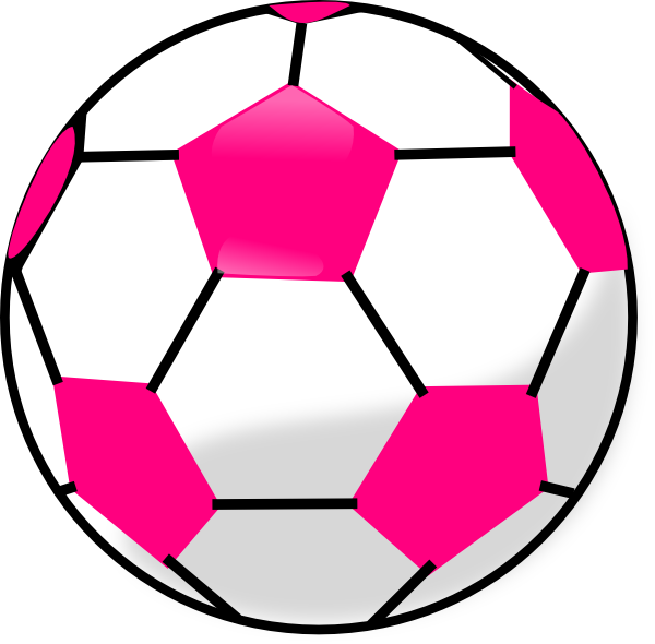 600x590 Soccer Ball With Hot Pink Hexagons Clip Art