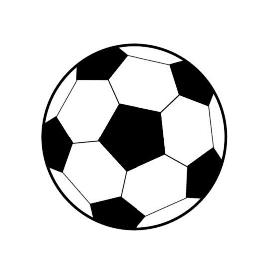 550x550 Soccer Ball And Silhouette Cameo On Clip Art