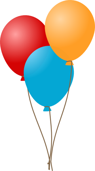 330x594 Balloon Clipart Free Graphics Of Colorful Party Balloons