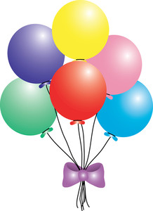 218x300 Birthday Balloon Clipart
