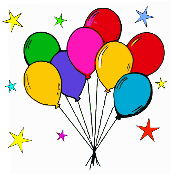 590x600 Free Birthday Balloon Clip Art Free Clipart Images 6