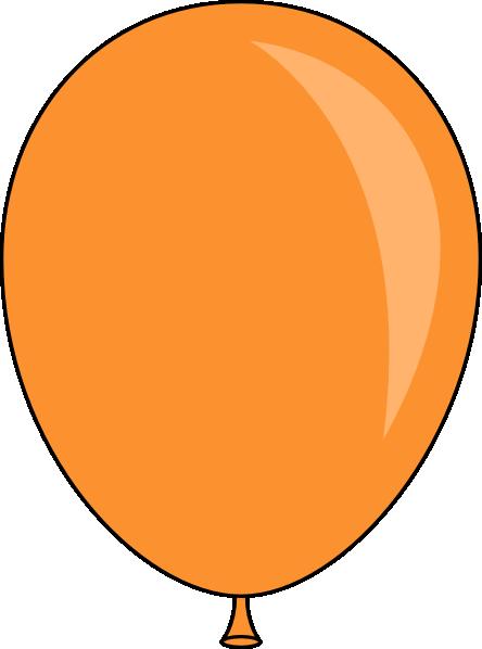 444x598 Orange Balloon Clip Art