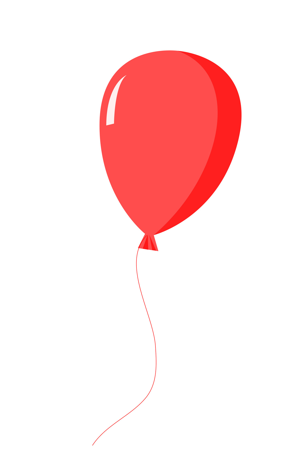 1275x1920 Red Balloon Clipart Free Stock Photo