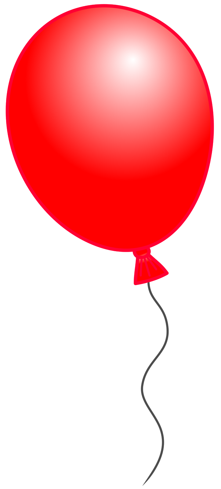 724x1600 Red Balloon Clipart