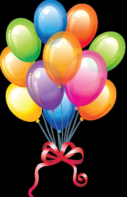 515x800 Single Modern Blue Balloon Clipart Image Birthday Clip 2