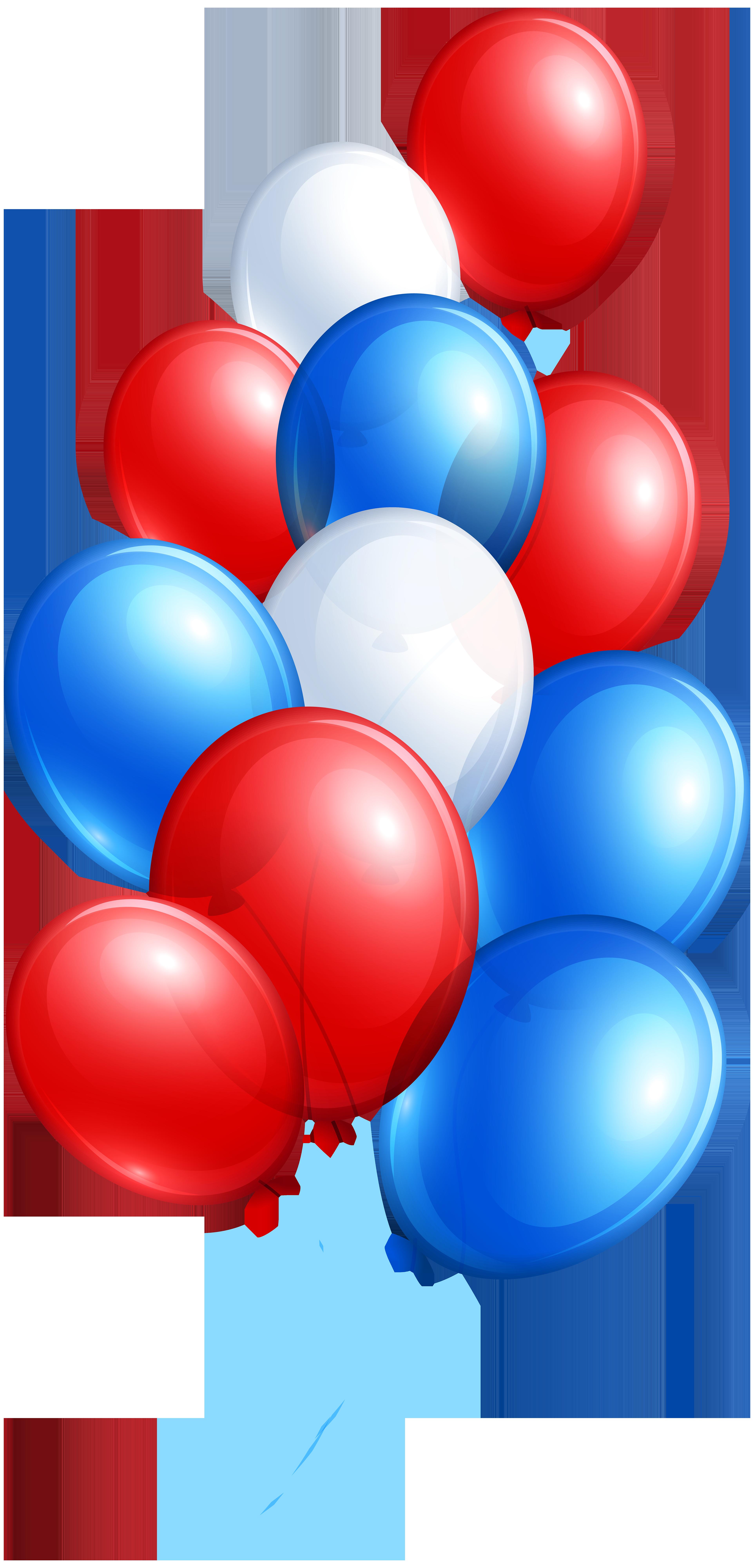 3848x8000 Balloon Clipart 4th July