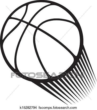 412x470 Clipart Of Basketball Ball K15282794
