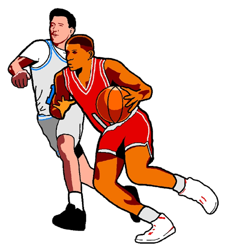 450x500 Basketball Game Clipart