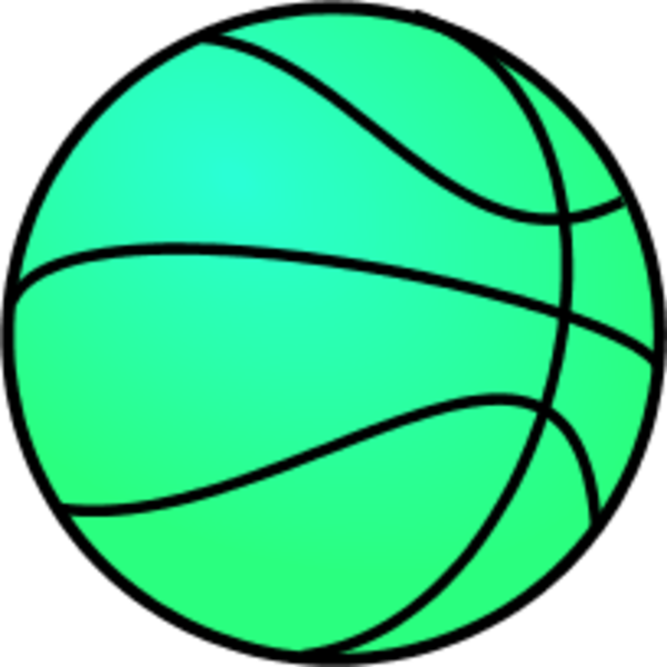 600x600 Large Basketball Clipart