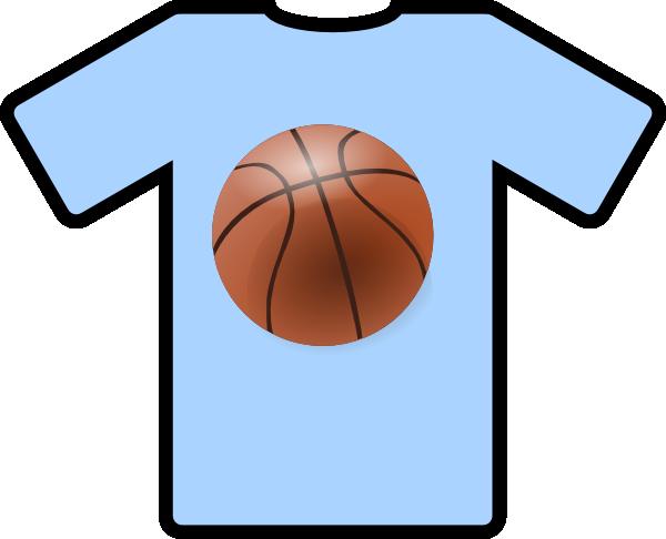 600x486 Light Blue Shirt Basketball Clip Art