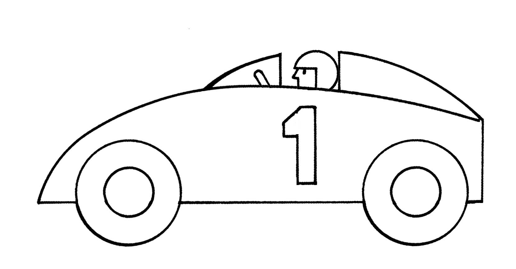1660x868 Drawn Race Car Clip Art