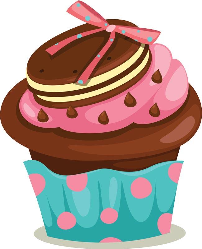 650x800 Vanilla Cupcake Clipart Cute Dessert
