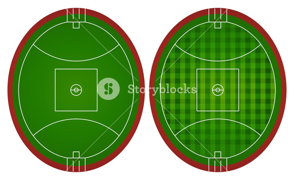 1000x613 Australian Rules Football Fields Illustration Royalty Free Stock