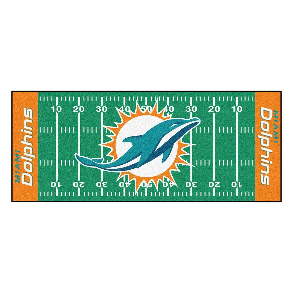 1000x1000 Fanmats Miami Dolphins 2 Ft. 6 In. X 6 Ft. Football Field Rug