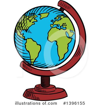 400x420 Desk Globe Clipart