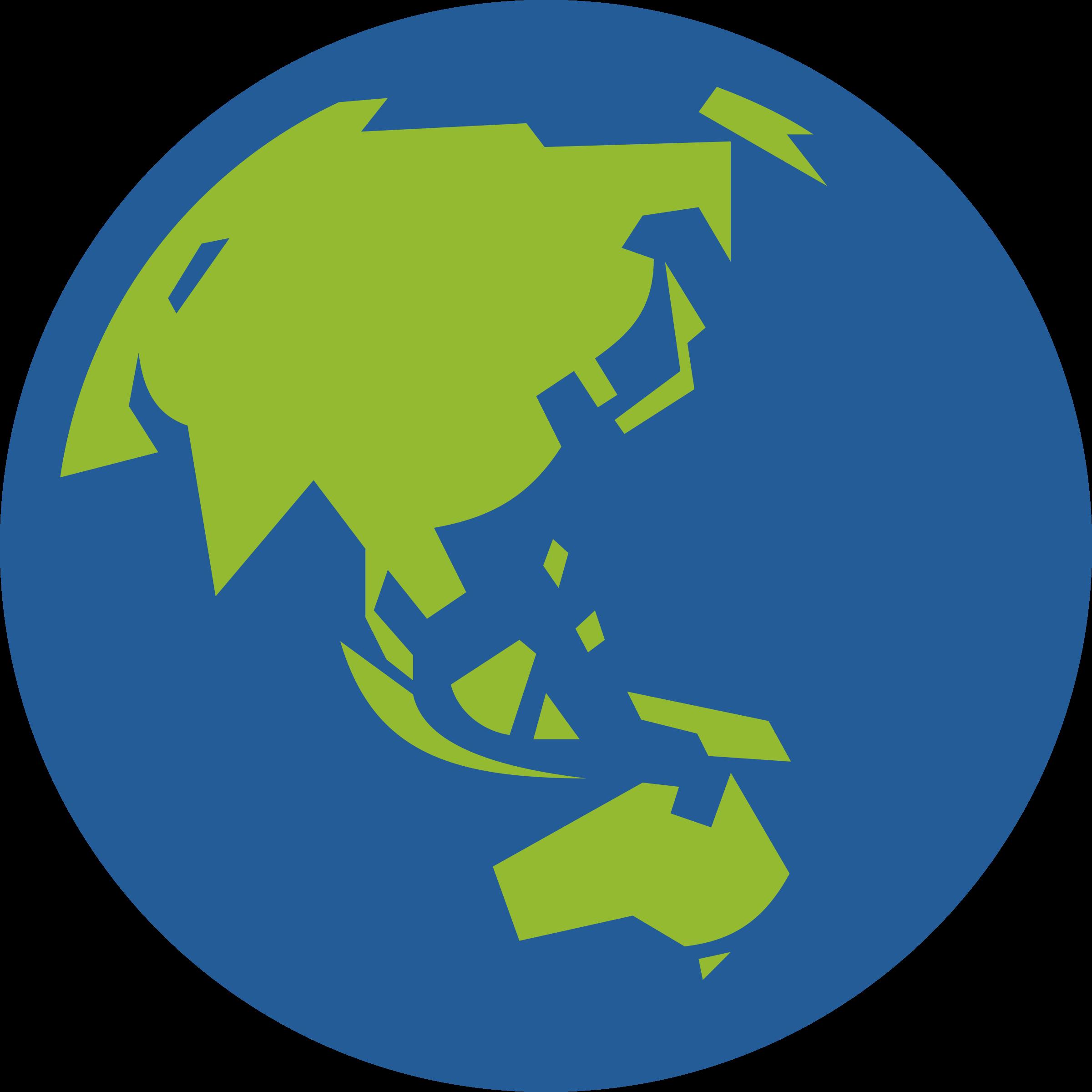 2400x2400 Asia Globe Clipart