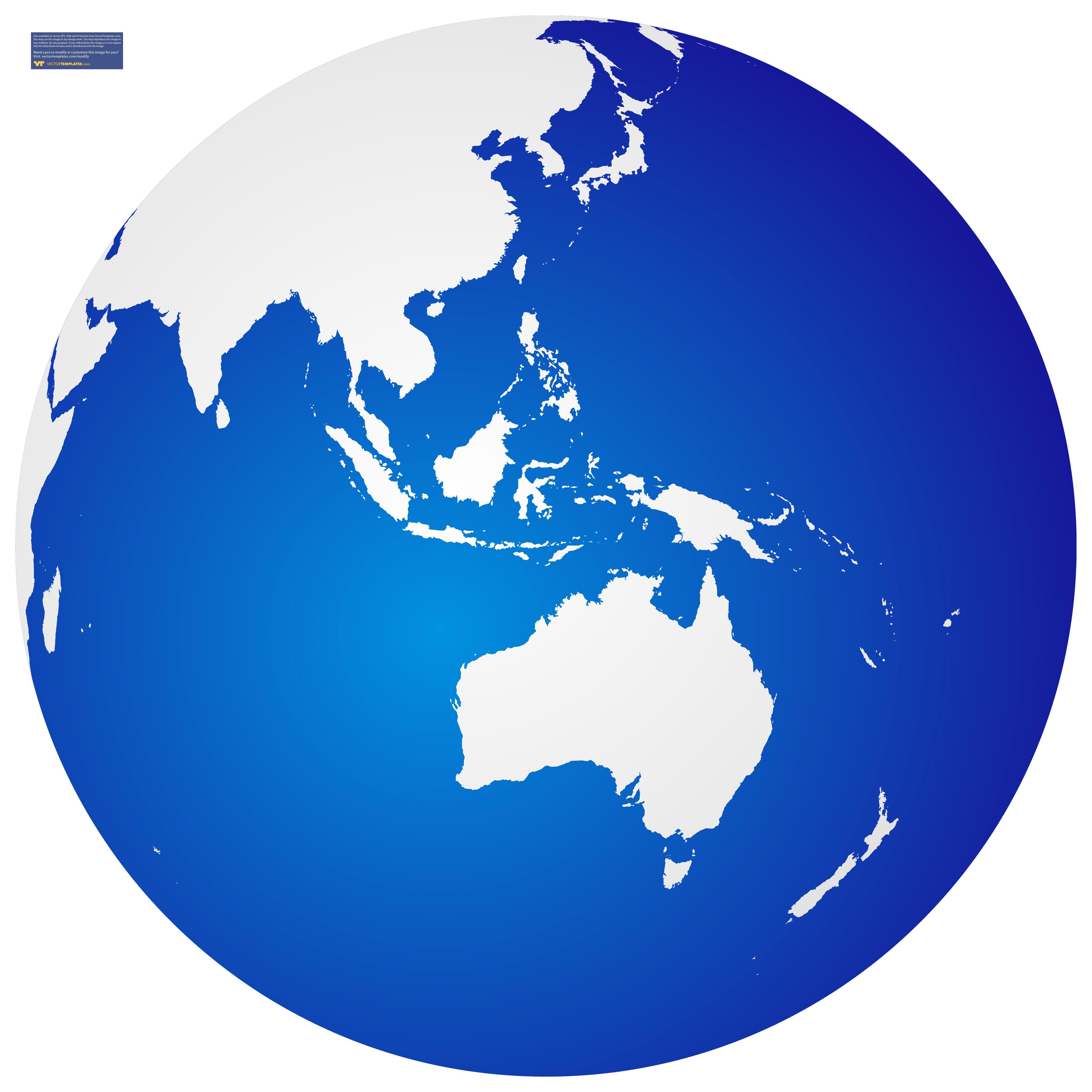 4021x4021 Blue Globe Clipart